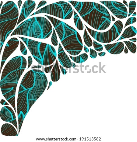 Abstract colorful drop background with blue pattern over white, VECTOR