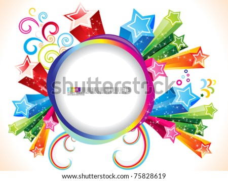 abstract colorful explode with stars  vector illustration