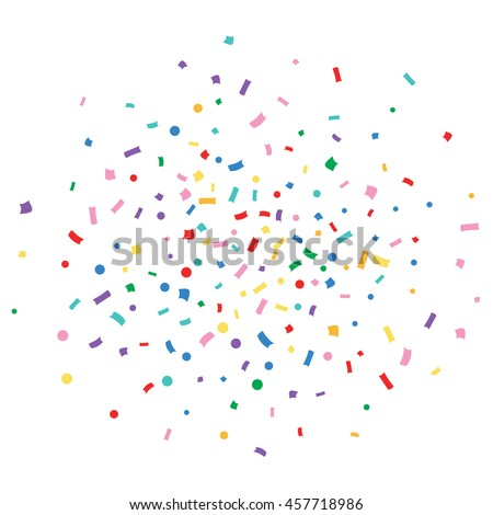 Abstract colorful explosion of confetti vector isolated on a white background. Vector illustration. Flat design element