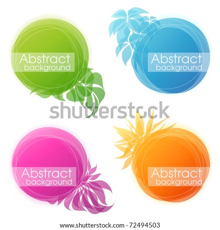 Abstract colorful floral bubbles. Vector illustration.