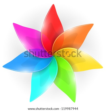 abstract colorful flower bud