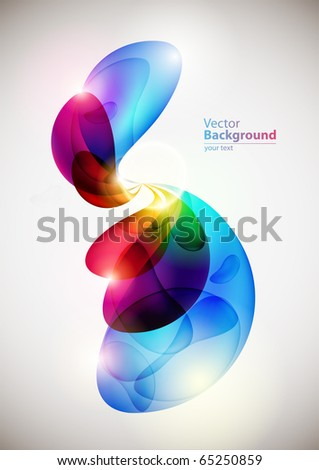 Abstract colorful forms