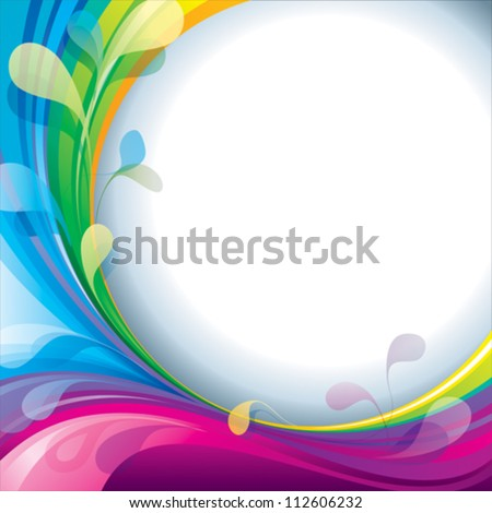 Abstract colorful frame with blank text space.