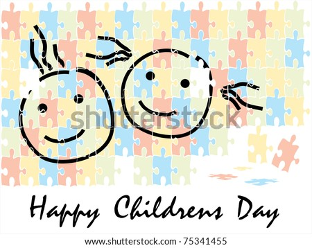 abstract colorful funky concept background for happy childrens day
