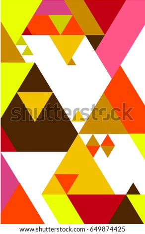 Abstract colorful geometric background for book cover, layout, page, poster, template. Graphic design triangle vector