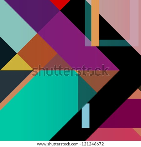 abstract colorful geometric background, halftone