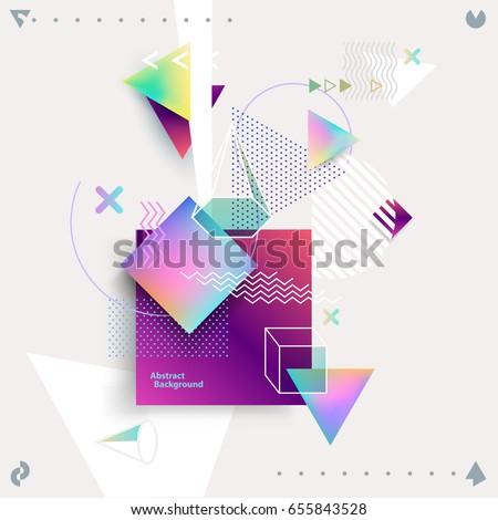 abstract colorful geometric
