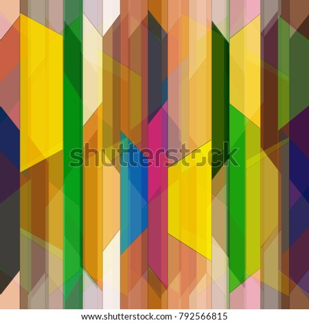 Abstract colorful geometric seamless pattern for new background.