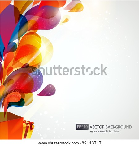 abstract colorful gifts vector