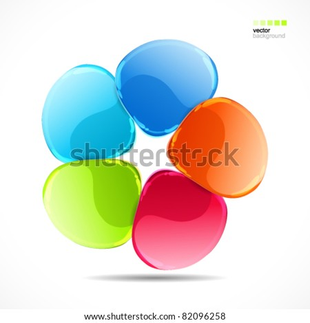 Abstract colorful glass shape vector background
