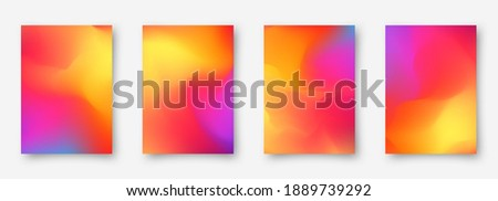 Abstract colorful gradient art illustration set. Contrast colors. Vector design layout for banners presentations, flyers, posters and invitations. Eps10.