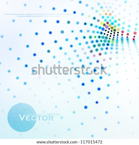 Abstract colorful illustration, creative vector eps10.
