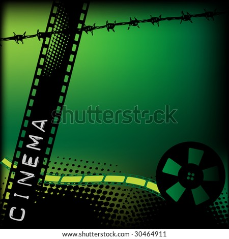film reel clipart. wire and colored film reel