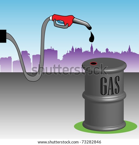 gas pump nozzle vector. stock vector : Abstract colorful illustration with gas pump nozzle and gas barrel