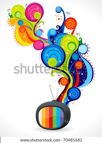 abstract colorful magical television vector illustration