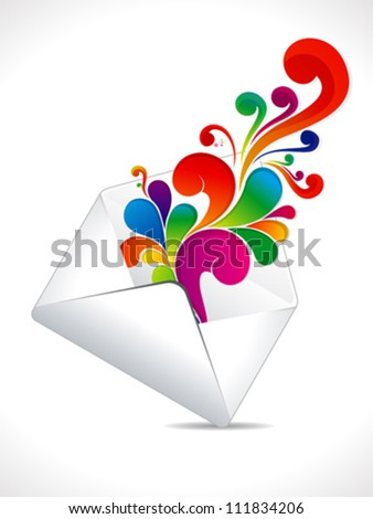 abstract colorful mail explode vector illustration
