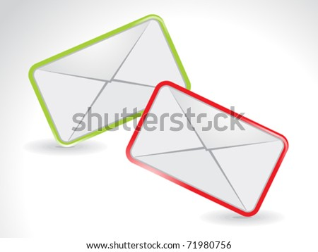 abstract colorful mail icon vector illustration