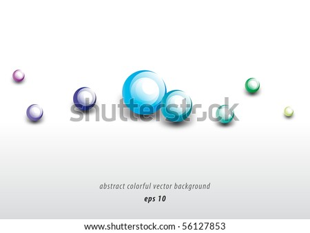 Abstract colorful modern bubble background design (eps10)