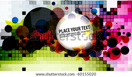 abstract colorful mosaic and