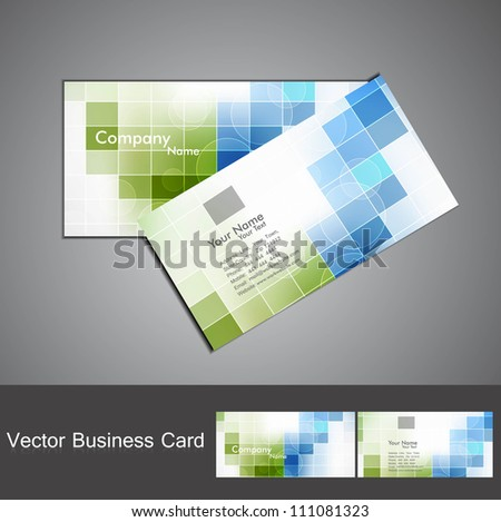 abstract colorful mosaic business card set design