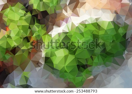 Stock Photo Abstract colorful mosaic pattern of geometric shapes in vector.  Creative technologies background.