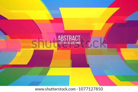 Abstract colorful mosaic. Squares background. Dynamic shapes in perspective. Trendy design for website, banner, poster. Vector illustration.