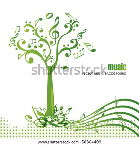 abstract colorful music tree