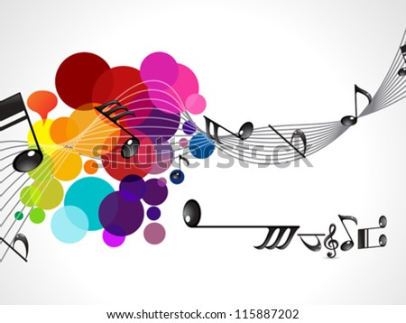 abstract colorful musical wave vector illustration