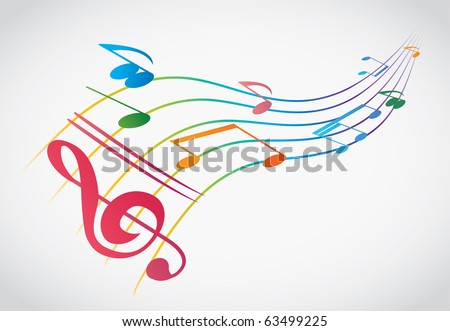 abstract colorful notes vector