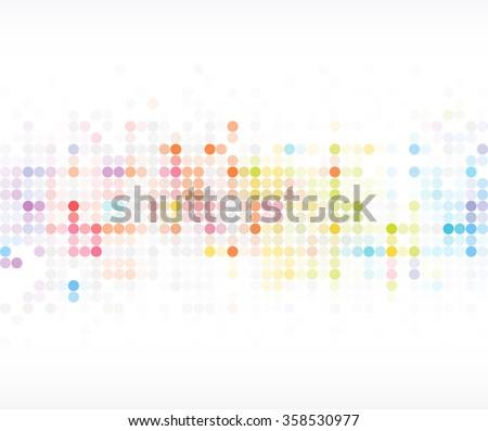 abstract colorful polka dot