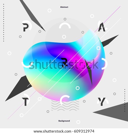 abstract colorful poster for