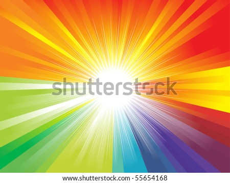 abstract colorful rainbow theme