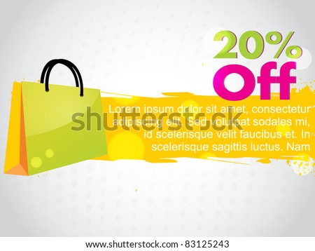 abstract colorful sale design