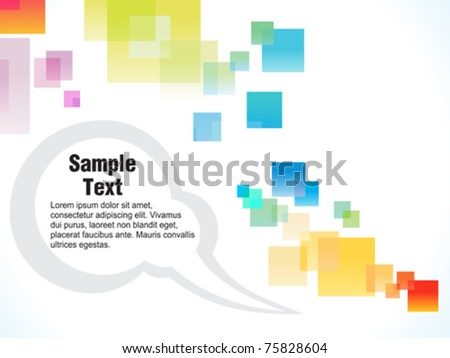 abstract colorful square template vector illustration