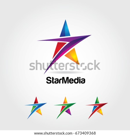 Abstract Colorful Star Logo Symbol