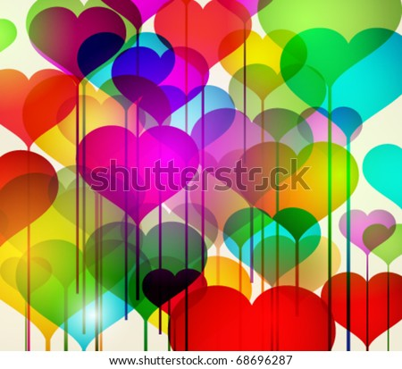 Abstract colorful stock vector valentines day background - stock vector