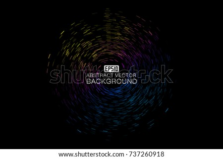 Abstract colorful swirl shape illustration, design element. #737260918