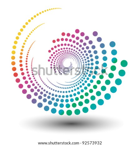 abstract colorful swirly illustration, logo design