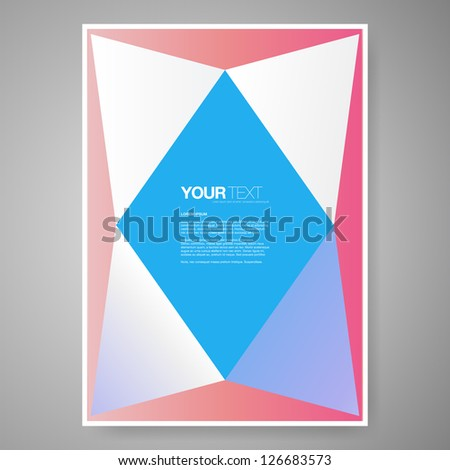 Abstract colorful text box design background vector