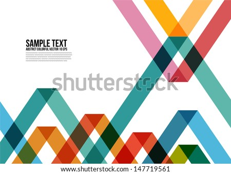 Abstract Colorful Triangle Pattern Background Cover Layout Magazine Brochure Poster Website Name card etc