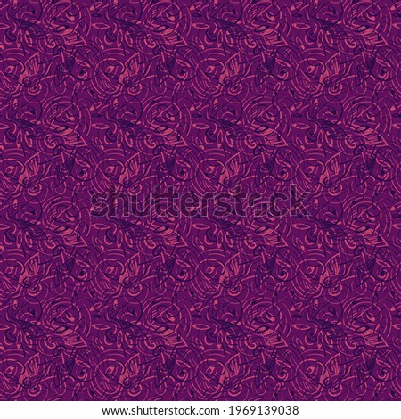 Abstract colorful unusual hand drawn seamless pattern