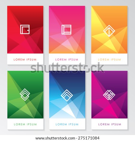 abstract colorful user