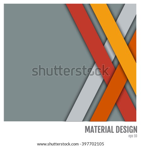 Abstract Colorful Vector Background. Modern Material Design #397702105