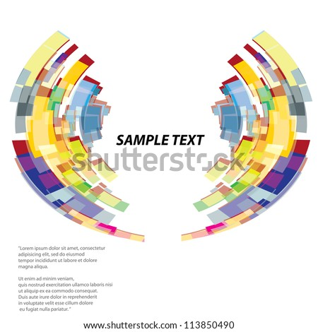 abstract colorful vector background. vector illustration.