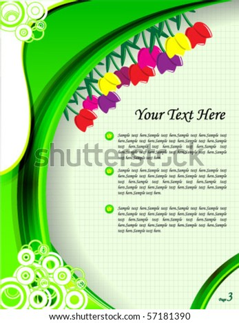 abstract colorful vector background with blank space for text