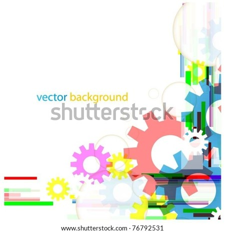 abstract colorful vector background with gears