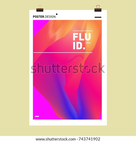 Abstract Colorful Wave Background. Dynamic Flux Effect Vector Illustration Design Template.
