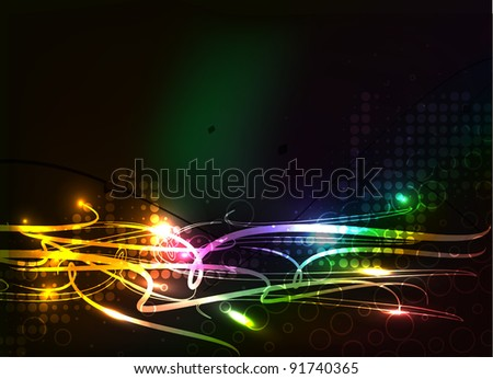 abstract colorful wave background, eps10 vector.