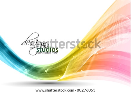 Abstract colorful wave background. Vector. illustration