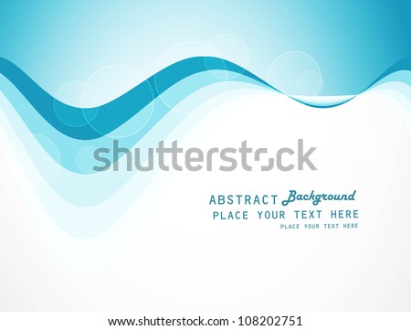 abstract colorfull blue wave vector background